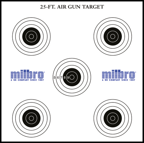 AIR RIFLE OR PISTOL 17CM PAPER 10M 33FT TARGET